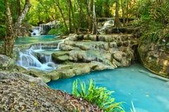 Waterfall in Kanchanaburi, Thailand. Waterfall at Erawan national park in Kanchanaburi, Thailand Stock Photo