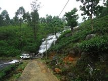 A waterfall at Kandy in Sri lanka. This is a small waterfall in Sri Lanka. It is situated at hunnasgiriya hill area. near to kandy royalty free stock photo