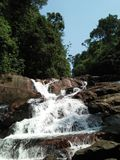 Waterfall anagimala ella at kanneliya forest. Sri lanka stock photography
