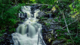 Waterfall in Karelia. Big Waterfall in Republic Karelia Royalty Free Stock Image