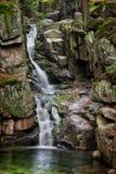 Waterfall in Karkonosze Mountains in Poland Stock Photo