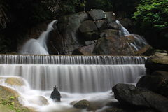 Waterfall. Kathu Waterfall at Phuket Thailand Royalty Free Stock Image