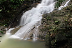Waterfall. Kathu Waterfall at Phuket Thailand Stock Photo