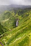 Waterfall on Kauai Stock Photography
