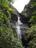 Waterfall Kauai royalty free stock image