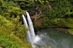 Waterfall in Kauai Royalty Free Stock Photo