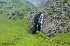 Waterfall in Kegety ravine, Kyrgyzstan Stock Photography