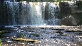 Waterfall in Keila-Joa in Estonia stock video footage
