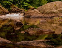Waterfall Kenduskeug Stream Stock Photography