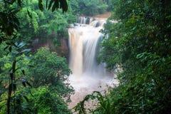 Waterfall at Khao Yai National Park Stock Photo