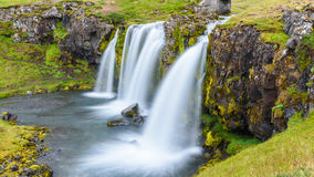 Waterfall at Kirkjufell mountain, Iceland Royalty Free Stock Photos