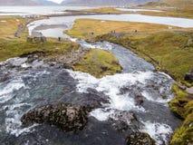 The waterfall Kirkjufellsfoss. Attracts many tourists Stock Photo