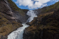 Waterfall Kjosfossen in  Norway Stock Photos