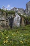 Waterfall at  Klausenpass Stock Photography