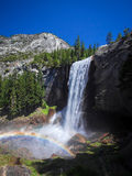 Waterfall known as Vernal Fall falling on a smooth wall of granite Stock Image
