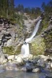 Waterfall on the Kola Peninsula, Russia Royalty Free Stock Photography