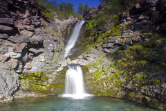 Waterfall on the Kola Peninsula, Russia Stock Image