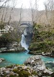 Waterfall on Kozjak River Stock Photography