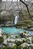 Waterfall on Kozjak River Stock Images