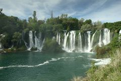 Waterfall Kravica in Bosnia and Herzegovina Royalty Free Stock Photos