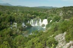 Waterfall Kravica in Bosnia and Herzegovina. In spring Royalty Free Stock Image