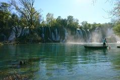 Waterfall in Kravice Stock Image