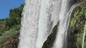 Waterfall Krcic closeup shot stock video