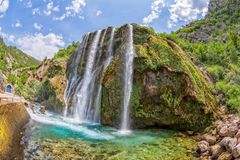 Waterfall Krcic fisheye Stock Photos