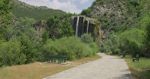 Waterfall Krcic in Knin stock footage