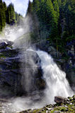 Waterfall krimml. Spraying waterfall krimml austria salzburg Royalty Free Stock Photography