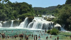 Waterfall in Krka Royalty Free Stock Image