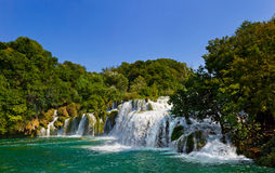 Waterfall KRKA in Croatia Stock Images