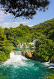 Waterfall KRKA in Croatia Royalty Free Stock Image