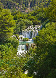 Waterfall KRKA in Croatia Royalty Free Stock Images