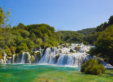 Waterfall KRKA in Croatia Royalty Free Stock Photos