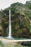 Waterfall Krka in Croatia. In spring Royalty Free Stock Image