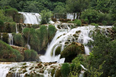 Waterfall KRKA in Croatia Stock Photo