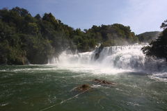 Waterfall in Krka, Croatia Stock Photography
