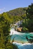 Waterfall KRKA in Croatia Royalty Free Stock Images