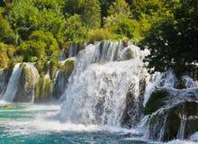 Waterfall KRKA in Croatia Royalty Free Stock Photography