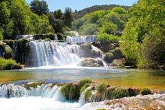 Waterfall KRKA in Croatia - nature travel background Royalty Free Stock Photo