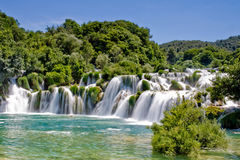 Waterfall in Krka national park Croatia Stock Photo