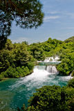 Waterfall in Krka national park in Croatia Royalty Free Stock Photos