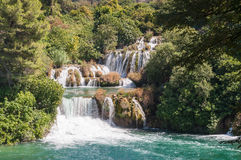 Waterfall in Krka National Park Stock Image