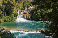 Waterfall in Krka National Park Royalty Free Stock Images