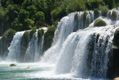 Waterfall in the Krka National Park, Croatia royalty free stock photos