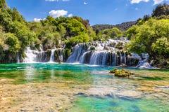 Waterfall In Krka National Park -Dalmatia, Croatia Stock Photography
