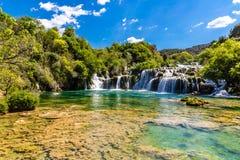 Waterfall In Krka National Park -Dalmatia, Croatia Stock Image