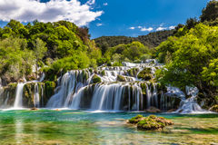 Waterfall In Krka National Park -Dalmatia, Croatia Royalty Free Stock Images