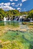 Waterfall In Krka National Park -Dalmatia, Croatia Royalty Free Stock Photography